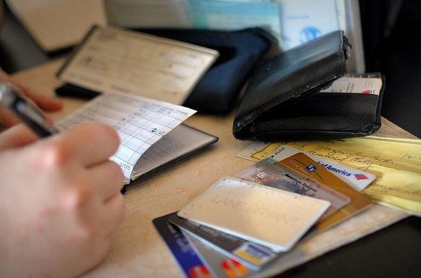 Person doing finances