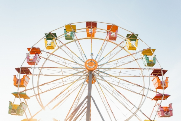 Ferris wheel in summer