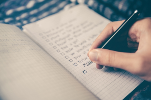 Writing a not to do list